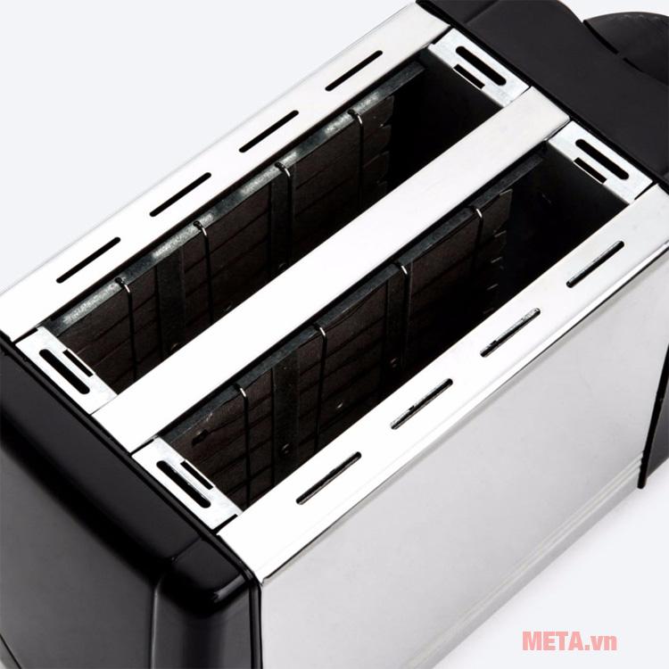 Máy nướng bánh mì Kuchenzimmer 3000488 với 2 ngăn nướng tiện dụng