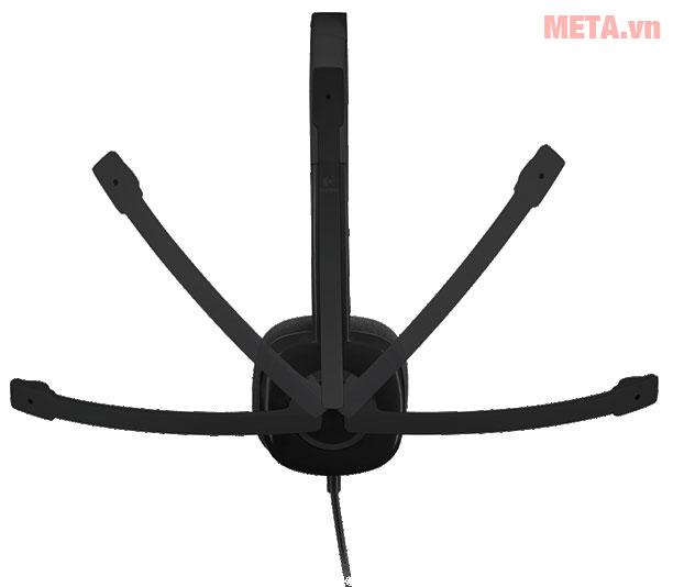 Tai nghe có mic Logitech H151 có thể điều chỉnh micro nhiều vị trí