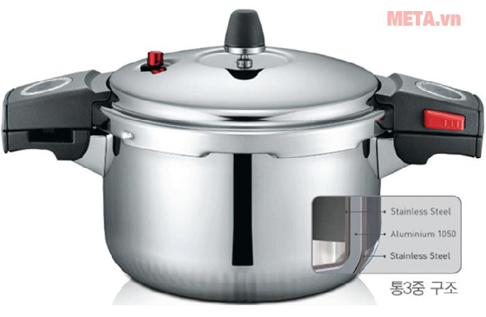 Hình ảnh nồi áp suất inox PoongNyun SQS11-20C dung tích 3,5 lít