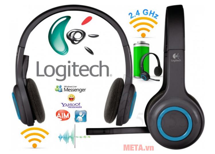 Tai nghe không dây Logitech H600 có khả năng hoạt động với hầu hết các ứng dụng trò chuyện trên điện thoại