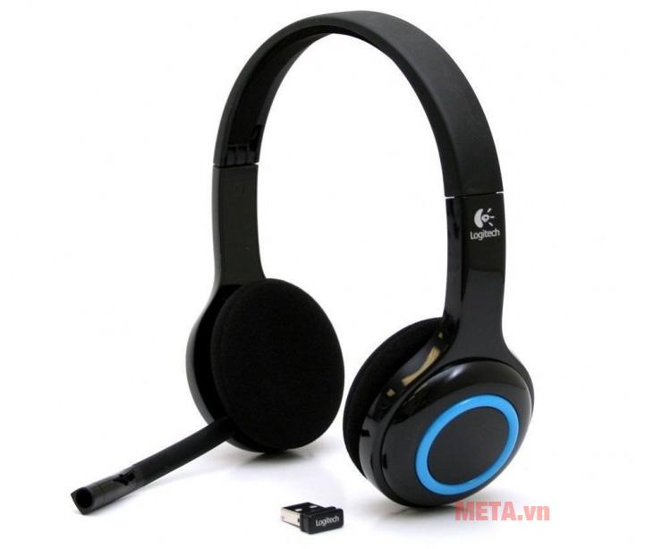 Tai nghe không dây Logitech H600 có màu đen cá tính