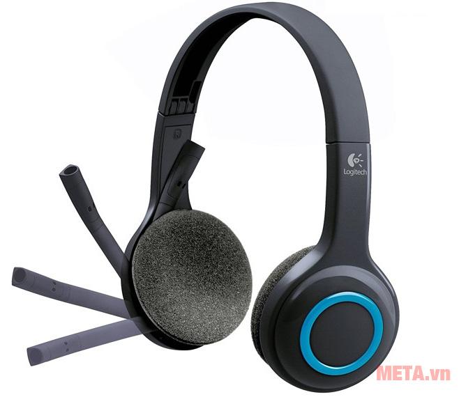 Tai nghe không dây Logitech H600 với micro linh hoạt, tiện lợi