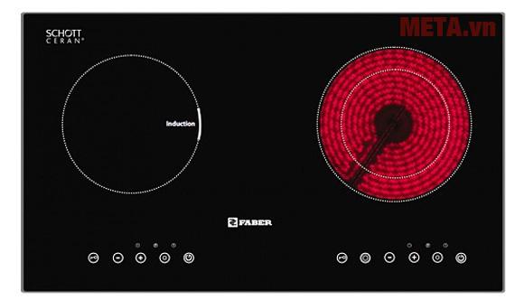 Hình ảnh bếp điện từ hồng ngoại kết hợp Faber FB-INES