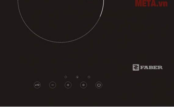 Bếp điện đôi Faber FB-INES có phím điều khiển riêng cho từng bếp