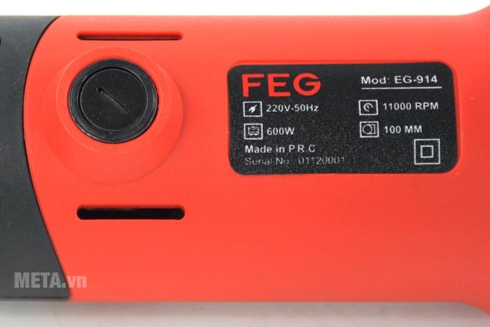 Máy mài góc FEG-914 có tốc độ không tải cao