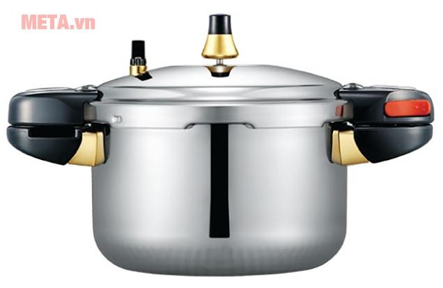 Nắp nồi áp suất thiết kế đặc biệt, tăng khả năng nấu nhanh, đáp ứng để hầm ninh nhiều món