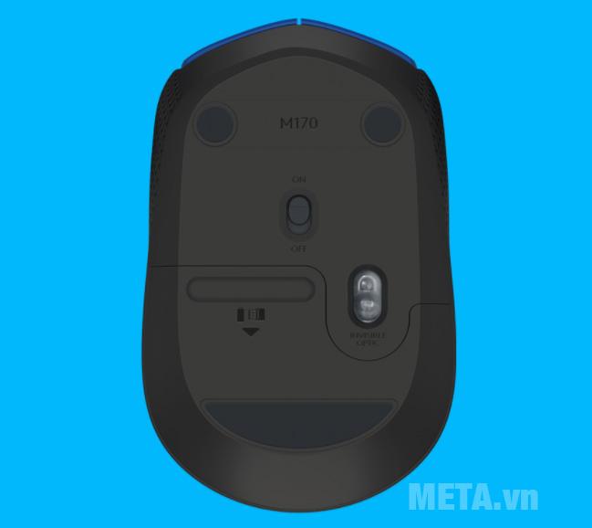 Chuột máy không dây M171 có thiết kế nhỏ gọn chỉ bằng lòng bàn tay