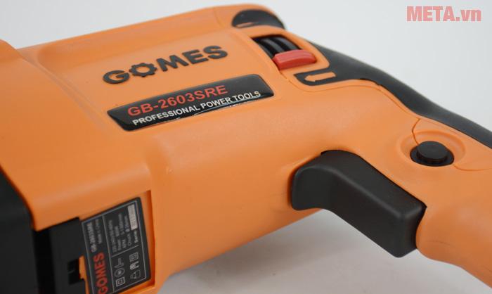 Máy khoan bê tông Gomes GB-2603SRE có cò máy ở tay cầm