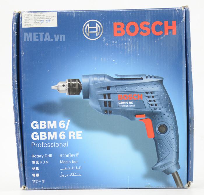 Máy khoan Bosch GBM 6 RE có hộp đựng giấy