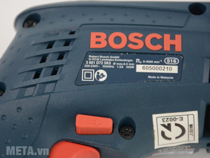 Máy khoan Bosch GBM 6 RE in thông số trên thân máy