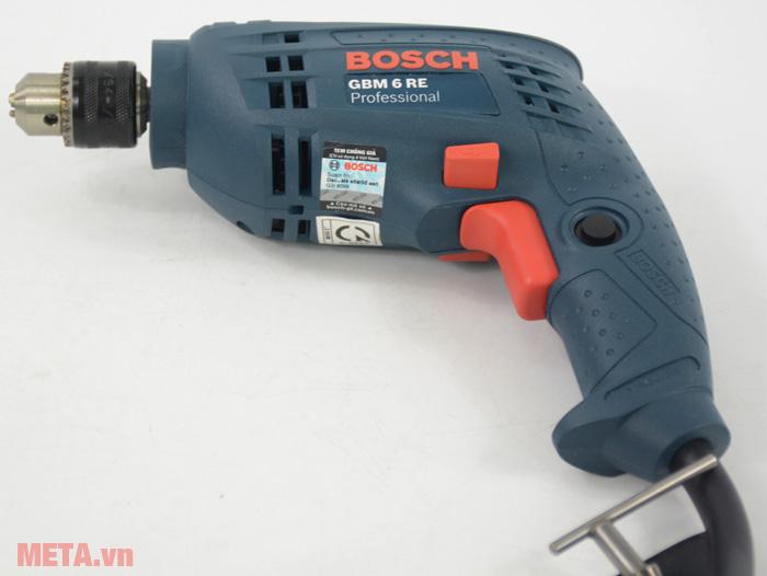 Máy khoan Bosch GBM 6 RE dùng khoan thép, gỗ, tường