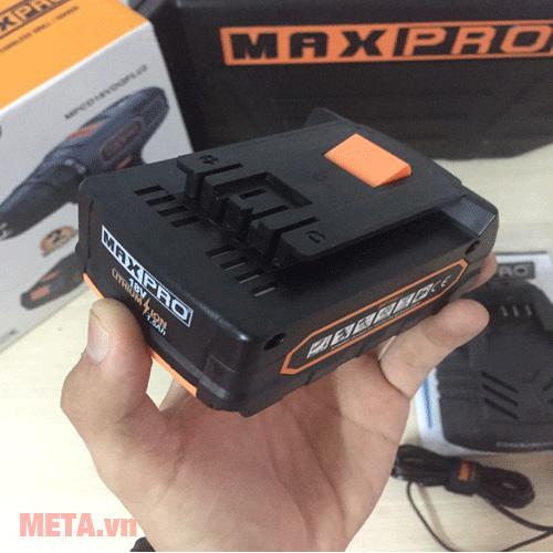 Máy khoan pin Maxpro MPCD18VDQFLi/2 cho thời gian hoạt động bền bỉ