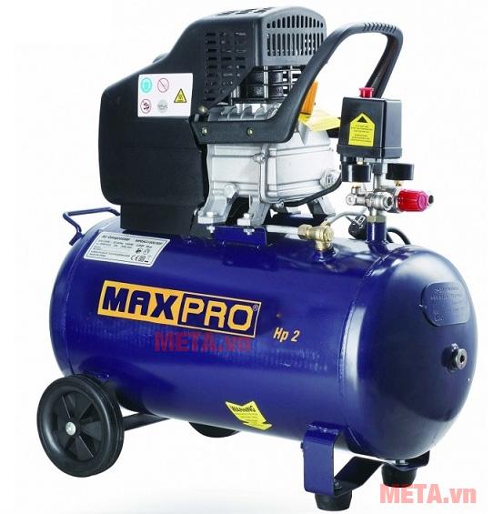 Máy nén khí Maxpro MPEAC1501/24 có bình chứa khí dung tích 24 lít