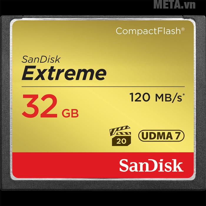 Hình ảnh thẻ nhớ máy ảnh 32GB SanDisk CF Extreme SDCFXSB-032G-G46
