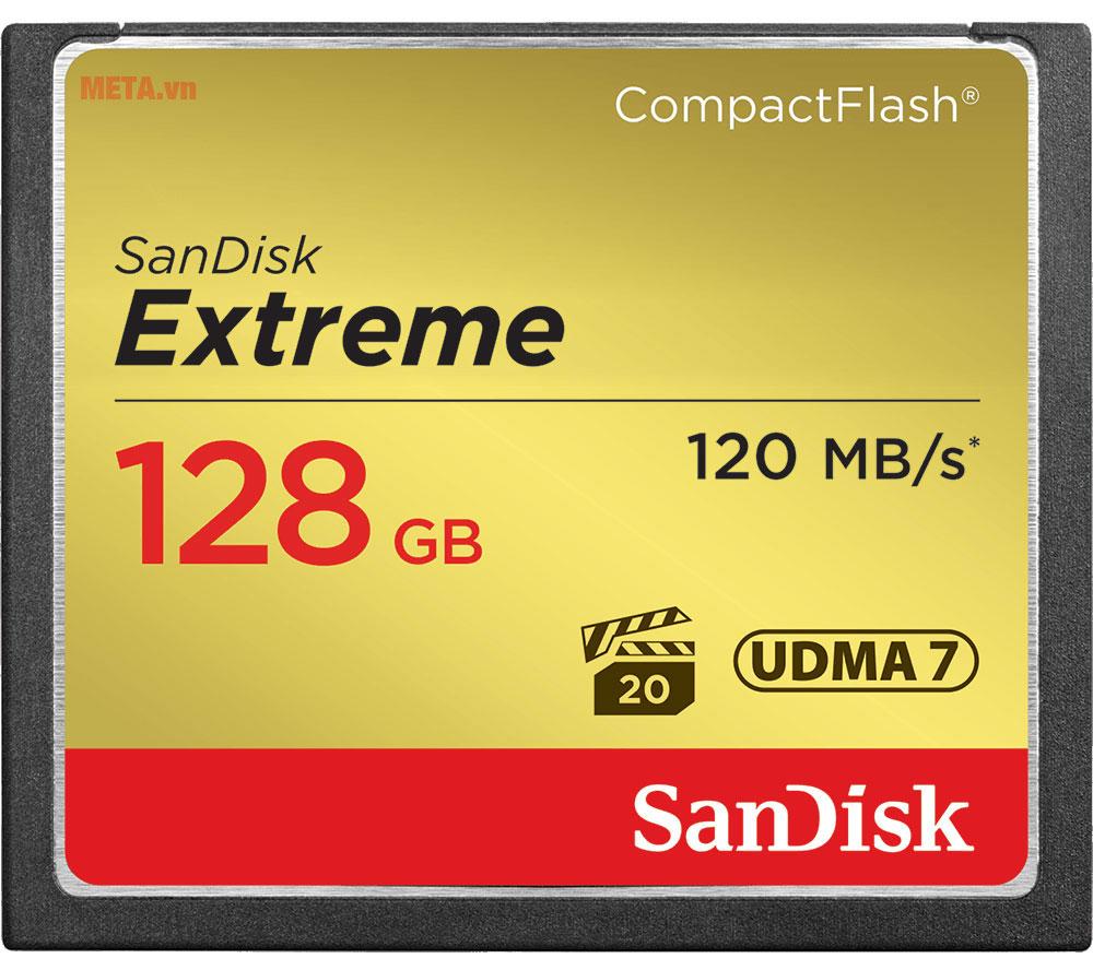 Thẻ nhớ máy ảnh 128GB SanDisk CF Extreme SDCFXSB-128G-G46