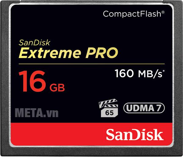 Thẻ nhớ máy ảnh 16GB SanDisk CF Extreme Pro SDCFXPS-016G-X46 hỗ trợ cho cả quay video Full HD và 4K