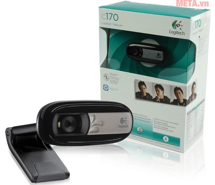 Webcam ghi hình Logitech C170 cùng vỏ hộp