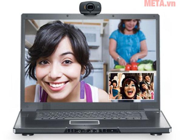 Webcam Logitech HD C525 cho chất lượng hình ảnh và video chuẩn HD