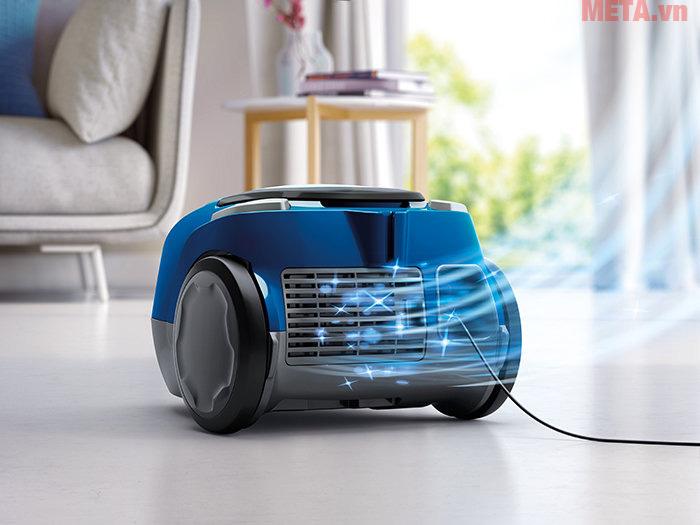 Với bộ lọc vi sợi máy sẽ hút sạch sẽ mọi bụi bẩn khi máy đi qua