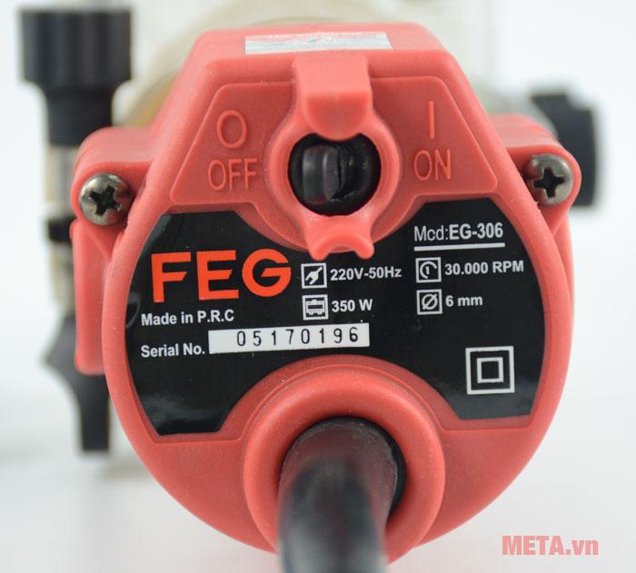 Máy soi gỗ FEG EG-306 có tốc độ không tải cao