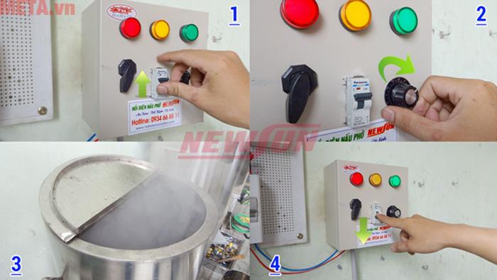 Để đảm bảo an toàn cho người dùng hãng đã trang bị một Attomat tự ngắt khi gặp sự cố