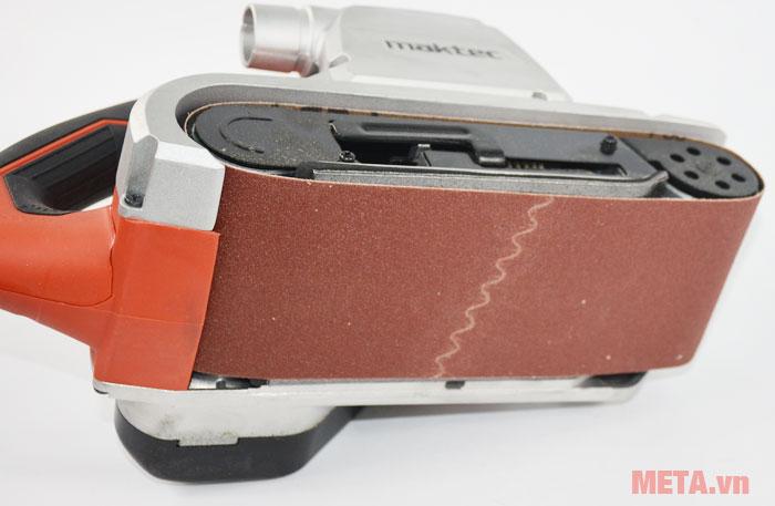 Máy chà nhám băng Maktec MT941 thay giấy nhám cực nhanh
