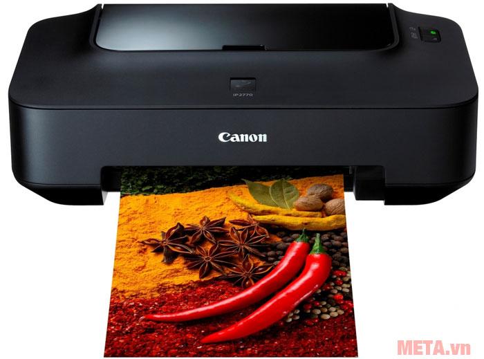 Máy in phun màu Canon PIXMA iP2770 có độ phân giải cao sẽ cho ra những bức ảnh tuyệt đẹp