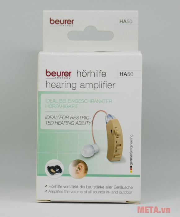 Máy trợ thính Beurer HA50 có hộp đựng giấy