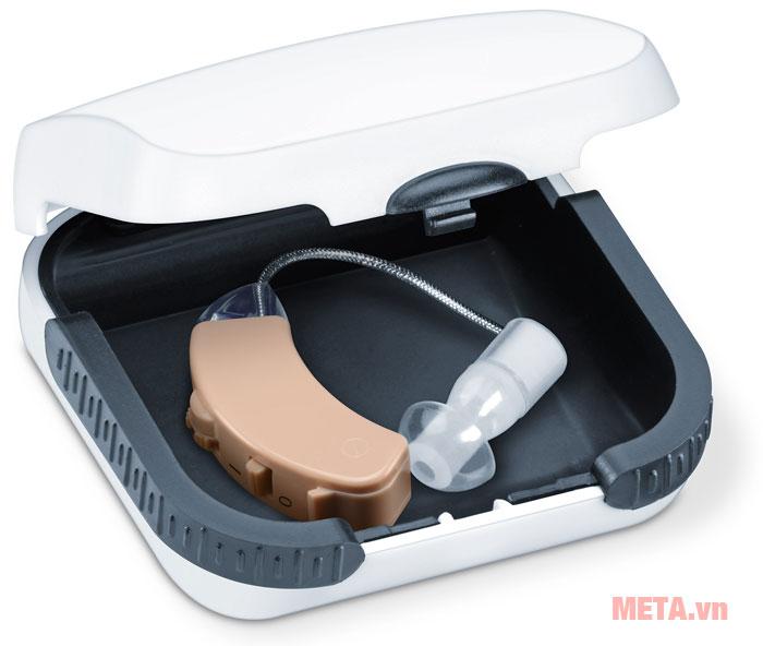 Máy trợ thính Beurer HA50 có 1 hộp đựng nhựa