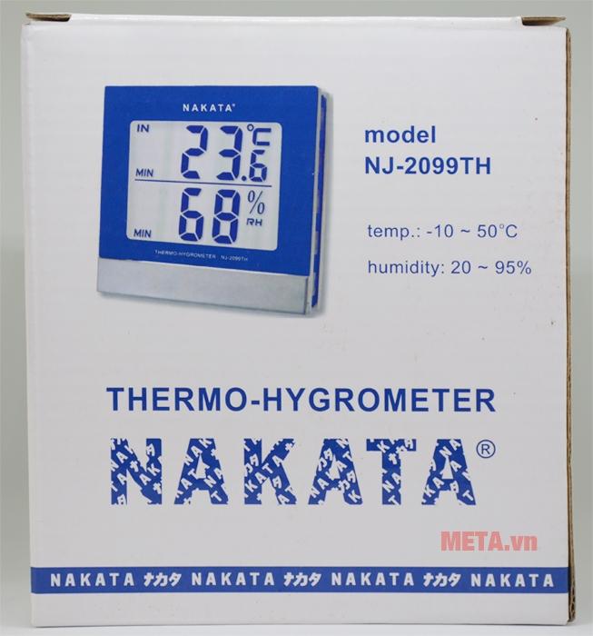 Nhiệt ẩm kế Nakata NJ-2099-TH hàng Nhật Bản
