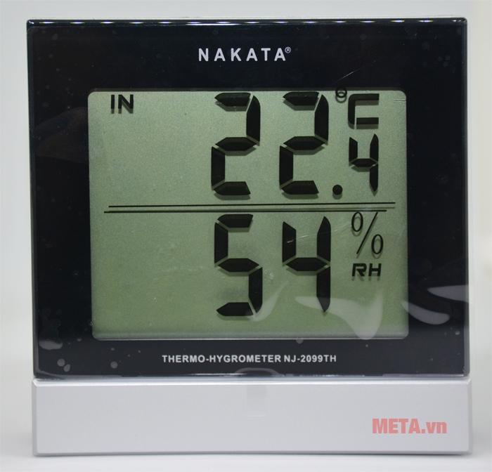 Nhiệt ẩm kế Nakata NJ-2099-TH có sai số đo nhiệt độ ± 1 độ C