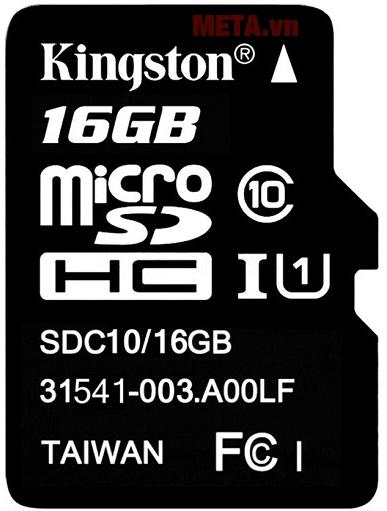 Hình ảnh thẻ nhớ micro SDHC Kingston Class 10 UHS-I (SDC10G2/16GB)