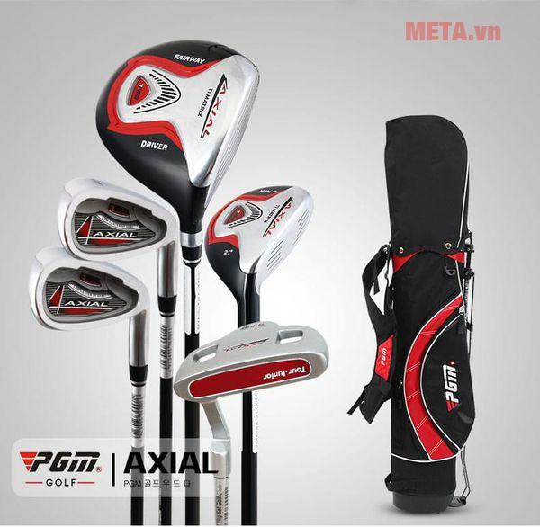 Bộ gậy golf trẻ em PGM Axial JRTG003 màu đỏ