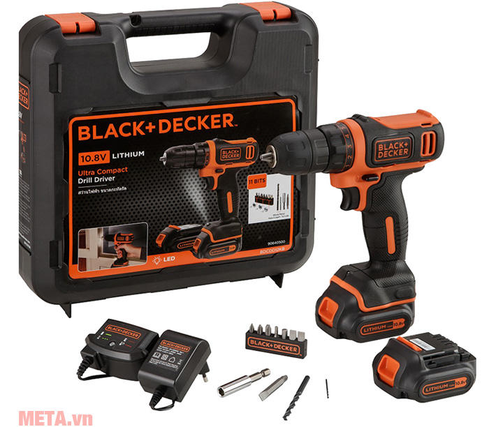 Bộ máy khoan vặn vít dùng pin Black&Decker BDCDD12KB