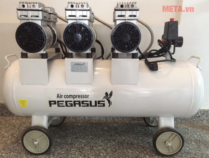 Hình ảnh máy nén khí không dầu giảm âm TM-OF750x3-70L (3HP)
