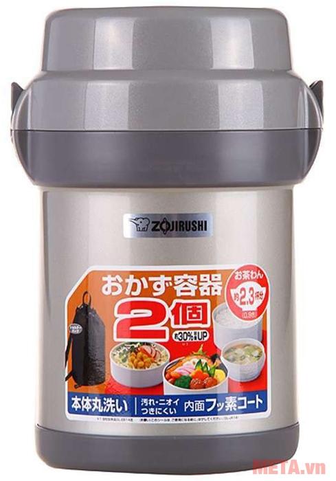 Bình đựng thức ăn Zojirushi SL-JAF14 có dung tích hộp ngoài 1,23 lít