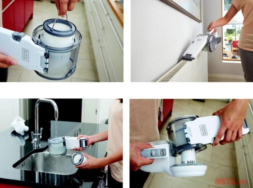 Máy hút bụi dùng pin Black&Decker PV1020L dễ dàng sử dụng