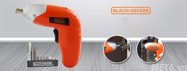 Máy vặn vít dùng pin Black&Decker KC3610 có thiết kế cầm tay tiện dụng