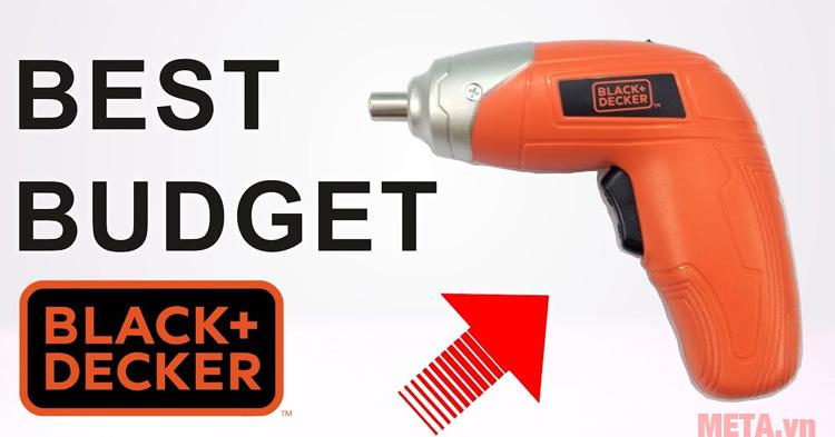 Máy vặn vít dùng pin Black&Decker KC3610 có công tắc dễ dàng sử dụng