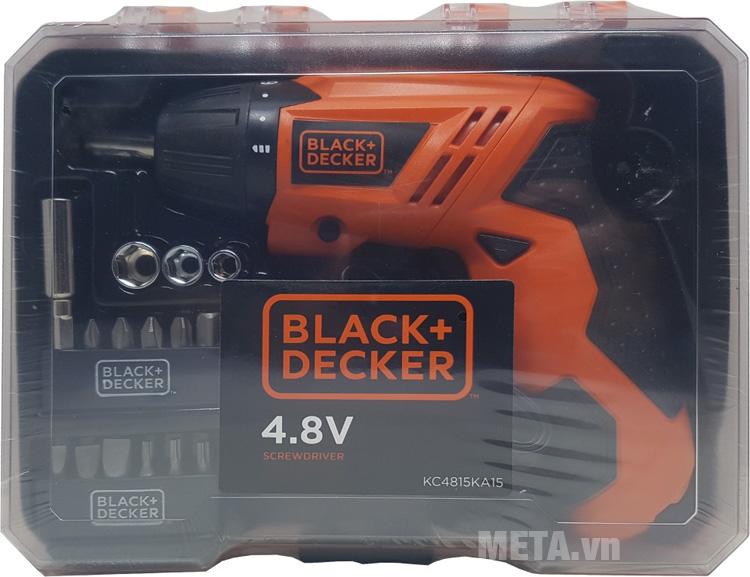 Máy vặn vít dùng pin Black & Decker KC4815KA15 sử dụng hiệu điện thế 4.8V