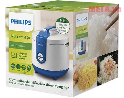 Vỏ hộp nồi cơm điện nắp rời Philips HD3119/66 - 2 lít