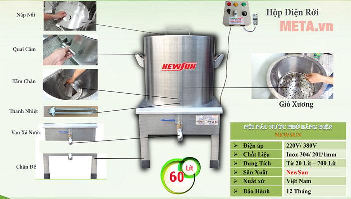Hình ảnh nồi nấu phở điện 60 lít - NPVN60L