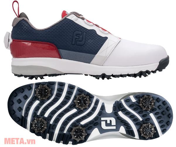 Giày golf nam FootJoy ContourFIT BOA 54109 có logo FJ trên thân và đế giầy