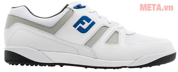 Giày golf nam FootJoy Greenjoy Spikeless 45166 có logo FJ trên thân giày