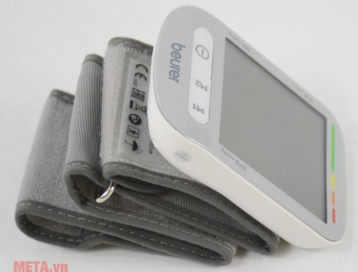 Máy đo huyết áp cổ tay Beurer BC50 màu trắng xám