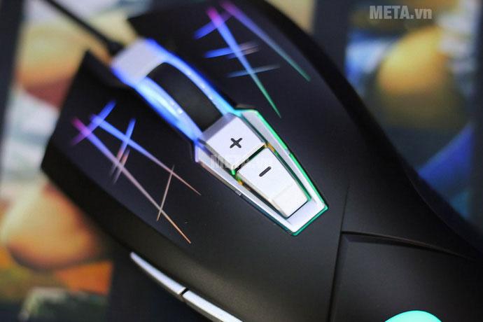 Fuhlen G93S cũng có bộ nút đổi DPI nhanh rất tiện lợi cho game thủ