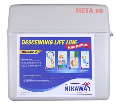 Dây thoát hiểm Nikawa KDD-3F có tốc độ hạ xuống 16 cm/s - 150 cm/s.