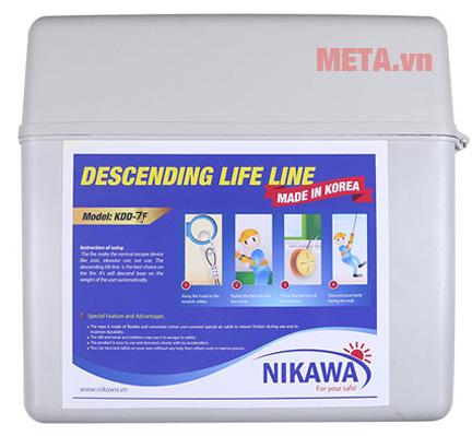 Hộp đựng nhựa của dây thoát hiểm Nikawa KDD-7F
