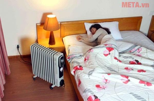 Máy sưởi dầu FujiE OFR4613 có thể sử dụng trong phòng ngủ