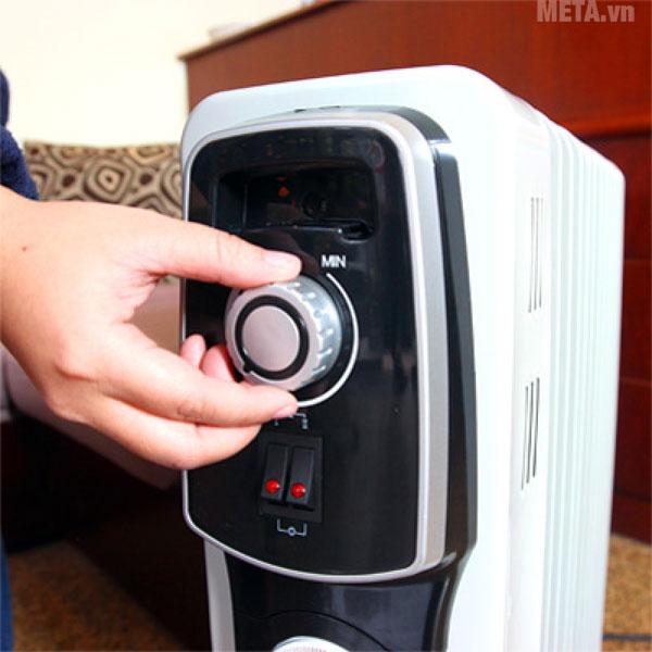 Núm vặn giúp bạn dễ dàng điều chỉnh nhiệt độ phù hợp với nhu cầu sử dụng